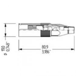 Amphenol Serie AC - Conector aéreo XLR macho 5 Pines