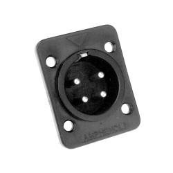 Amphenol Serie AP - Conector Chasis de Altavoz 4 Pines macho plástico negro