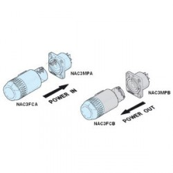 Neutrik NAC 3 FCA - Conector aéreo PowerCon azul