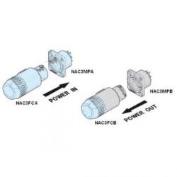 Neutrik NAC 3 FCB - Conector aéreo PowerCon gris