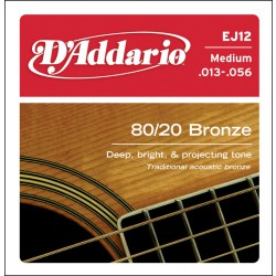 D'Addario EJ12 80/20 Bronze Medium [13-56]