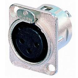 Neutrik NC 3 FDL 1 - Conector Chasis XLR hembra