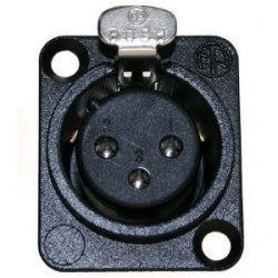 Neutrik NC 3 FDL 1 BAG - Conector Chasis XLR hembra negro