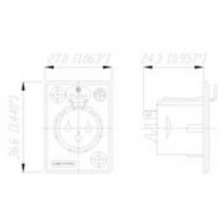 Neutrik NC 3 FP 1 - Conector Chasis XLR hembra