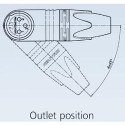 Neutrik NC 3 FRX - Conector aéreo acodado XLR hembra