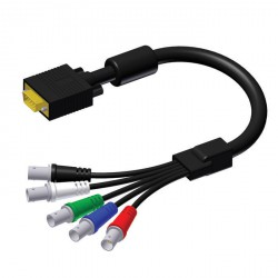 Adam Hall Cables Serie ProCab CAV 102 - Cable de Vídeo de SVGA macho a 5 BNC hembra 0,3 m