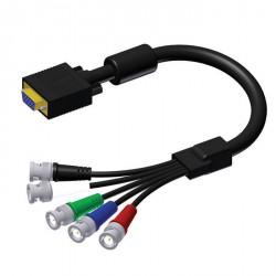 Adam Hall Cables Serie ProCab CAV 102 - Cable de Vídeo de SVGA macho a 5 BNC hembra 1 m