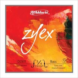 D'Addario Clásica DZ611 Zyex 3/4L