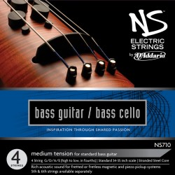 D'Addario Clásica NS170 Electric Bass Cello