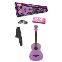 Daisy Rock 14-7211 Junior Miss Acoustic Starter Pack Popsicle Purple