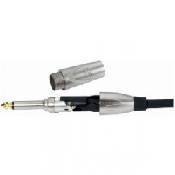 Adam Hall Connectors 7523 - Conector aéreo Jack 6,3 mm mono dorado