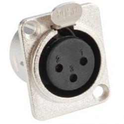 Adam Hall Connectors 7837 - Conector Chasis XLR hembra tipo D