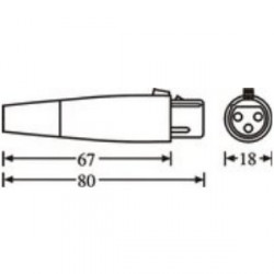 Adam Hall Connectors 7845 - Conector aéreo XLR hembra
