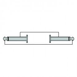 Adam Hall Cables Serie ProCab REF 600 - Cable de Instrumento de Jack 6,3 mm mono a Jack 6,3 mm mono 1,5 m