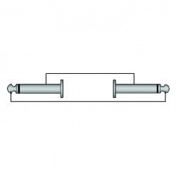 Adam Hall Cables Serie ProCab REF 600 - Cable de Instrumento de Jack 6,3 mm mono a Jack 6,3 mm mono 5 m