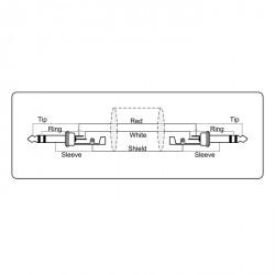 Adam Hall Cables Serie ProCab REF 610 - Cable de Instrumento de Jack 6,3 mm estéreo a Jack 6,3 mm estéreo 10 m