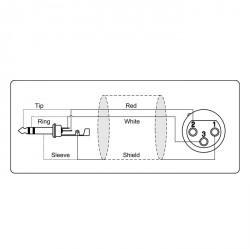 Adam Hall Cables Serie ProCab REF 723 - Cable de Micro de XLR hembra a Jack 6,3 mm estéreo 1,5 m