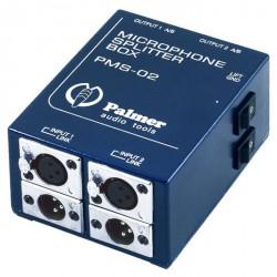 Palmer Audio Tools Palmer Pro PMS 02 - Splitter de Micro de 2 Canales
