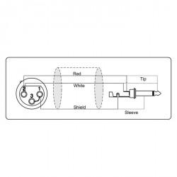 Adam Hall Cables Serie ProCab REF 900 - Cable de Micro de XLR hembra a Jack 6,3 mm mono 10 m