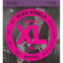 D'Addario EFX170 FlexSteels Light Long Scale [45-100]
