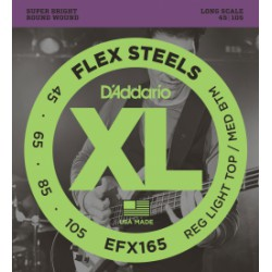 D'Addario EFX165 FlexSteels Custom Light Long Scale [45-105]