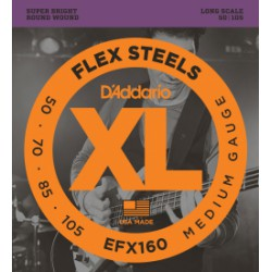 D'Addario EFX160 FlexSteels Medium Long Scale [50-105]