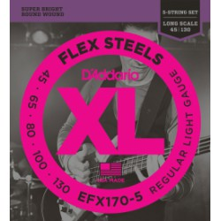 D'Addario EFX170-5 FlexSteels 5-String Light Long Scale [45-130]