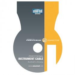 Adam Hall Cables Serie Neutrik - Cable de Instrumento Neutrik de Jack 6,3 mm mono a Jack 6,3 mm mono 9 m