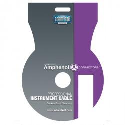 Adam Hall Cables Serie Amphenol - Cable de Instrumento Amphenol de Jack 6,3 mm mono a Jack 6,3 mm mono acodado 9 m