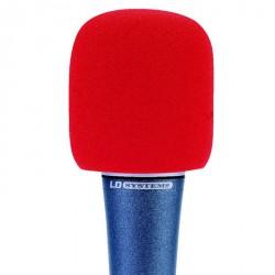 LD Systems D 913 - Pantalla antiviento para Micrófono roja