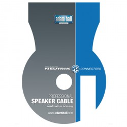 Adam Hall Cables Serie Neutrik - Cable de Altavoz Neutrik de Speakon 2 Pines a Speakon 2 Pines 15 m gris