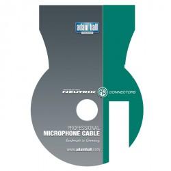 Adam Hall Cables Serie Neutrik - Cable de Micro Neutrik de XLR hembra a Jack 6,3 mm mono 3 m