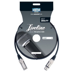 Adam Hall Cables Serie Liveline - Cable de Micro de XLR macho a XLR hembra 6 m