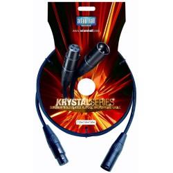 Adam Hall Cables Serie Krystal - Cable de Micro OCC de XLR macho a XLR hembra 3 m