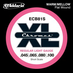 D'Addario ECB81S Chromes Light [45-100] Short Scale
