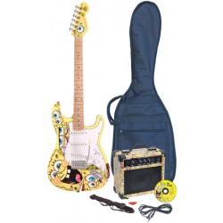 JHS Bob Esponja Pack de Guitarra Eléctrica BOB ESPONJA (Tamaño Estándar) AMARILLO