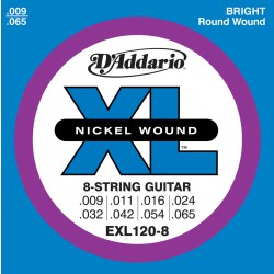 D'Addario EXL120-8 Nickel Wound, 8-String, Super Light, [9-65]