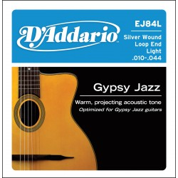 D'Addario EJ84L Gypsy Jazz, Loop End, Light, [10-44]