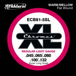 D'Addario ECB81-5SL Chromes Light [45-132]