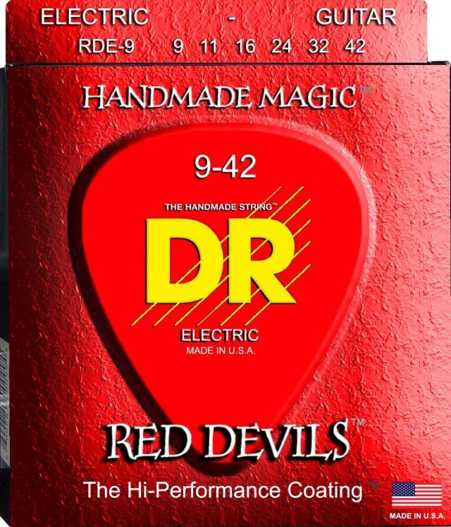 DR Strings Red Devils Extra Life Coated 09-42