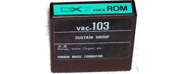 Yamaha DX7 Voice ROM VRC-103 Data Cartridge