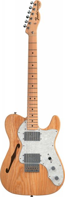 Fender Classic Series 72 Telecaster Thinline - MN - Natural Ash