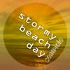Stormy beach day
