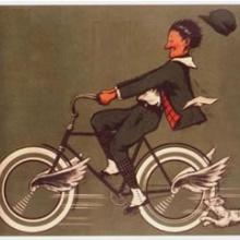 Un ciego en bicleta