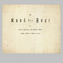 Contrapunctus 1 (El Arte de la Fuga. Bach )