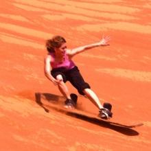 Haciendo surf en Marte