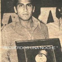 RECUERDOS DE UNA NOCHE ( canta Fernando Arias-2014)