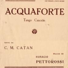 Acquaforte - Tango por Horacio Pettorossi y Carlos Marambio Catam